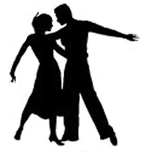Rhumba Dancers Silhoutte on Waltz Dance Steps